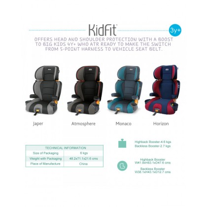 Chicco KidFit Booster Seat Atmosphere