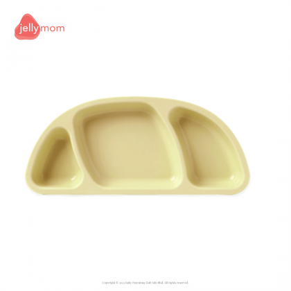 Jellymom Silicone Plate With Suction Base Yellow