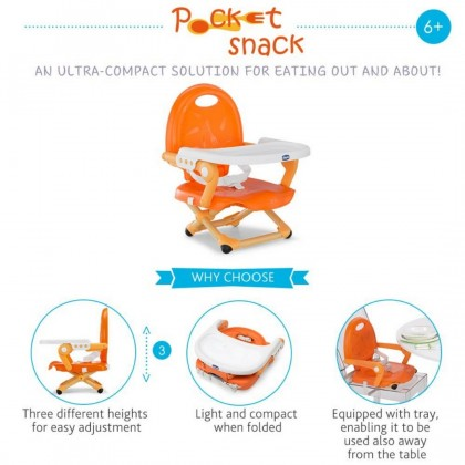 Chicco Pocket Snack Booster Seat Rose